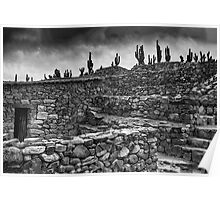 The Stone House - monochrome Poster