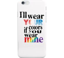 WEAR YOUR COLORS iPhone Case/Skin