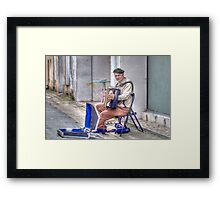 The Accordion Player  Framed Print