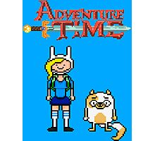 ADVENTURE TIME WITH FIONNA AND CAKE  Photographic Print