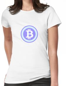 Bitcoin Blue Womens Fitted T-Shirt