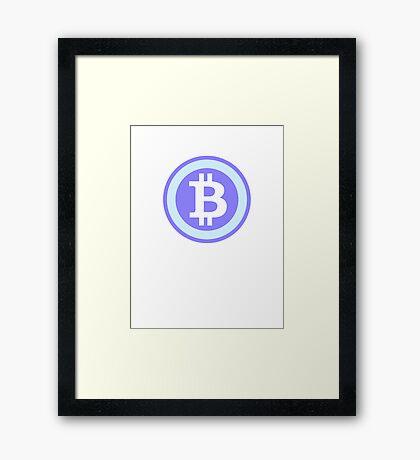 Bitcoin Blue Framed Print