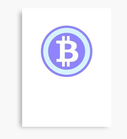 Bitcoin Blue Canvas Print