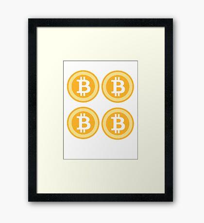 Bitcoin 4some Framed Print