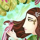 Encounter at the Heat of Nature - Hand-painted Illustrations by Marion Bouquet