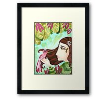 Encounter at the Heat of Nature - Hand-painted Illustrations Framed Print