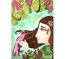 Encounter at the Heat of Nature - Hand-painted Illustrations Photographic Print