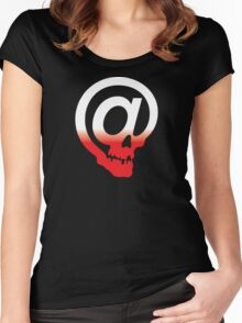 @ Skull Women's Fitted Scoop T-Shirt