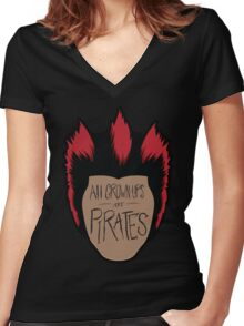 All Grown-Ups  Women's Fitted V-Neck T-Shirt