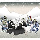 Jon Snow Duels Qhorin Halfhand as Wildlings Look On by Sei-G