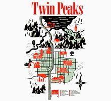 Twin Peaks Map Men's Baseball ¾ T-Shirt