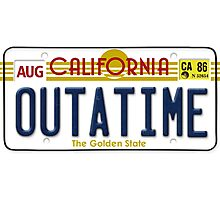 Back to the future Delorean License Plate Photographic Print