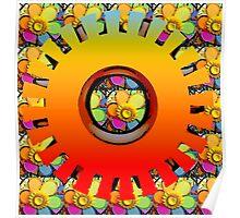 Daffodil Wheel Poster