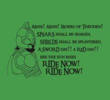 Arise riders of Théoden! by Huertense