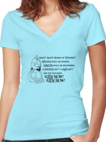 Arise riders of Théoden! Women's Fitted V-Neck T-Shirt