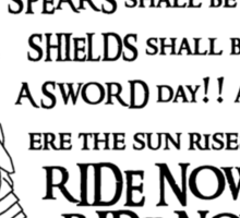 Arise riders of Théoden! v2 Sticker