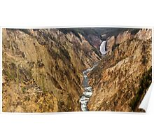 Lower Yellowstone Falls and Canyon Poster