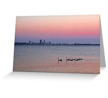Swan River Perth Western Australia  Greeting Card