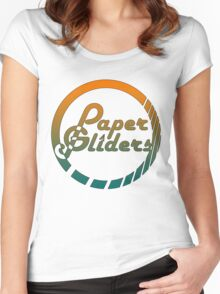 Paper Gliders (Color Design) Women's Fitted Scoop T-Shirt