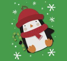 Holiday Penguin Baby Tee