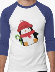 Holiday Penguin Men's Baseball ¾ T-Shirt