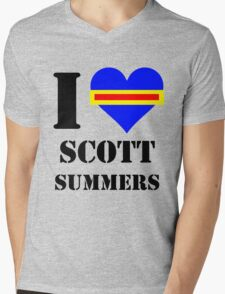 I Love / Heart Scott Summers Mens V-Neck T-Shirt