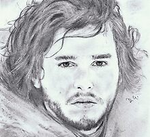 kit harington..pencil by danijelg