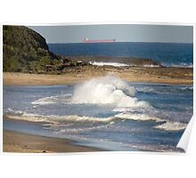 Natures Raw Power - Catherine Hill Bay Poster