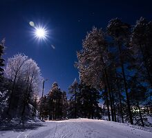 Moonlight and Frostbite - Ruka, Finland/Lapland by Adam Carra