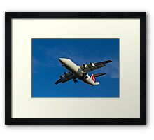 Swiss Air BAE 146 Framed Print