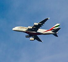 Emirates A380 by DavidHornchurch