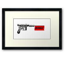 """DL-44 """"Bang!"""" Framed Print"""