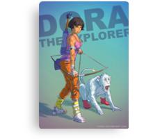 Dora the explorer BADASS Canvas Print