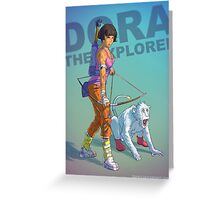 Dora the explorer BADASS Greeting Card