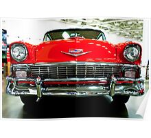 Classic Red Chevrolet Auto Show Poster