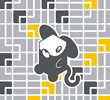 Cube Animals: The mouse by digitalstoff