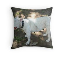 Girl - The Staffy Throw Pillow