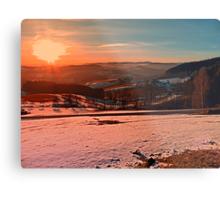 Colorful winter wonderland sundown II | landscape photography Metal Print
