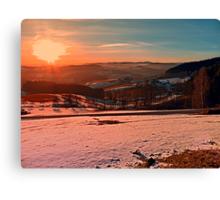 Colorful winter wonderland sundown II   landscape photography Canvas Print