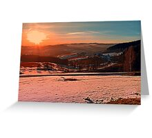 Colorful winter wonderland sundown II | landscape photography Greeting Card