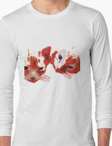 Peeping Kitties Long Sleeve T-Shirt