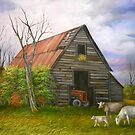 Red Roofed Barn Revisited by Vivian Eagleson
