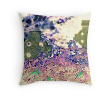 Crosses and Flowers Throw Pillow