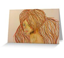 Girl of Fire Greeting Card