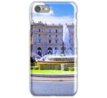 Rome, Italy - Fountain roundabout outside Piazza della Republica iPhone Case/Skin