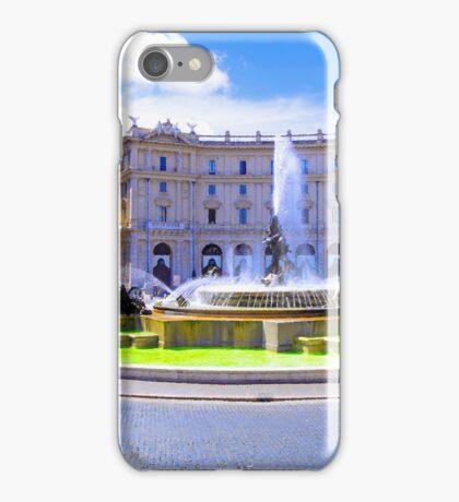 Rome, Italy - Fountain roundabout outside Piazza della Republica iPhone Case/Skin