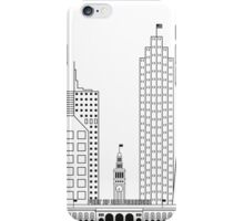 San Francisco skyline - Black and white version iPhone Case/Skin