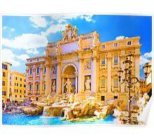 Rome, Italy - Trevi Fountain Poster