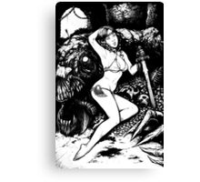 Pin up Slayer Canvas Print