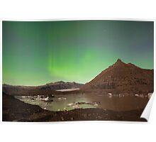 Aurora over Svinafellsjokul Poster